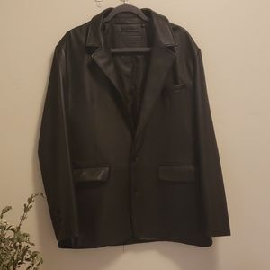 Leather Jacket Roundtree & Yorke lamb skin Large
